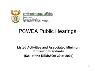 PCWEA Public Hearings