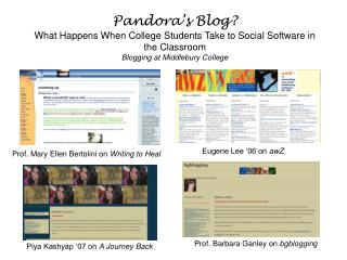 Prof. Barbara Ganley on  bgblogging