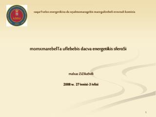 momxmarebelTa uflebebis dacva energetikis sferoSi malxaz ZiZikaSvili 2008 w.  27 ivnisi -3 ivlisi