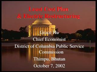 Least Cost Plan & Electric Restructuring