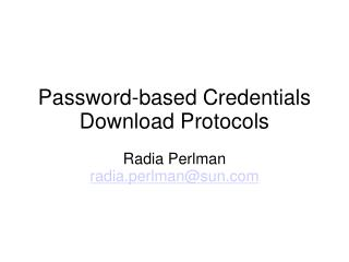 Password-based Credentials Download Protocols