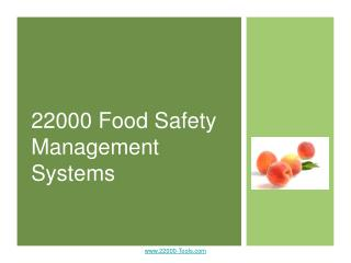 22000 Food Safety Management Systems