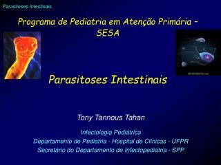 Programa de Pediatria em Atenção Primária – SESA Parasitoses Intestinais