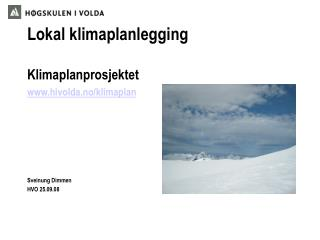 Lokal klimaplanlegging