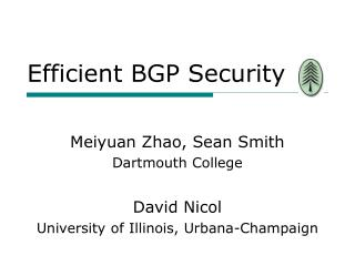 Efficient BGP Security