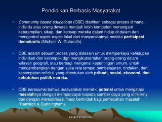 Pendidikan Berbasis Masyarakat