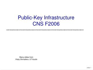 Public-Key Infrastructure CNS F2006