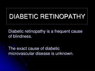 DIABETIC RETINOPAT HY