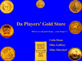 Da Players' Gold Store