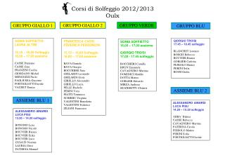 Corsi di Solfeggio 2012/2013 Oulx