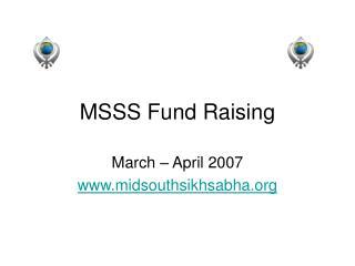 MSSS Fund Raising