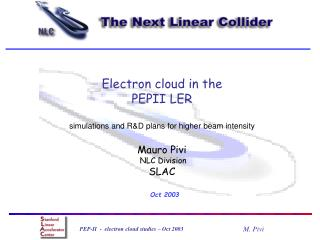 Electron cloud in the                                         PEPII LER