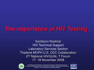 The importance of HIV Testing