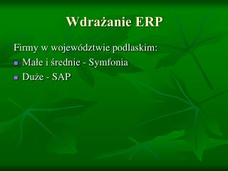Wdrażanie ERP