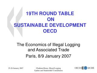19TH ROUND TABLE  ON  SUSTAINABLE DEVELOPMENT OECD
