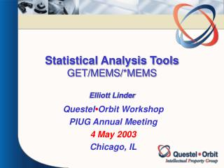 Statistical Analysis Tools GET/MEMS/*MEMS Elliott Linder