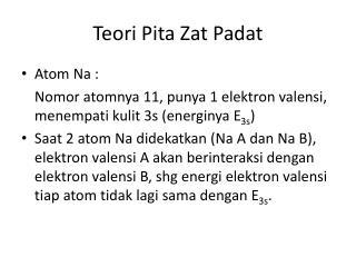 Teori Pita Zat Padat