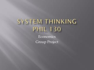 System thinking  Phil 130