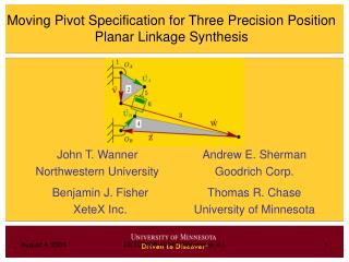 Moving Pivot Specification for Three Precision Position Planar Linkage Synthesis