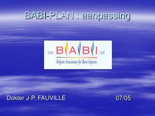 BABI-PLAN : aanpassing
