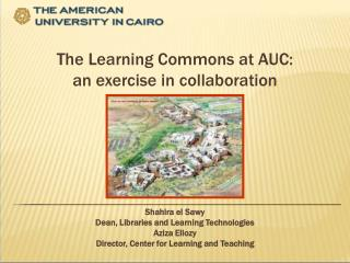 The Learning Commons at AUC: an exercise in collaboration