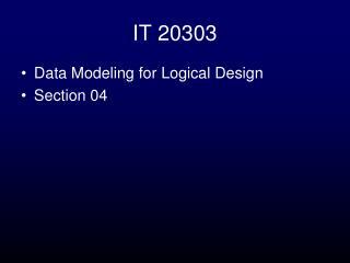 IT 20303