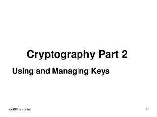 Cryptography Part 2