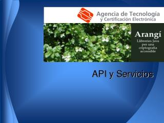 API y Servicios