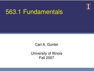 563.1 Fundamentals
