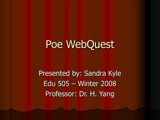 Poe WebQuest