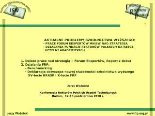 Jerzy Woźnicki Konferencja Rektorów Polskich Uczelni Technicznych