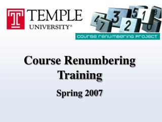 Course Renumbering Training  Spring 2007