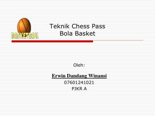 Teknik Chess Pass Bola Basket
