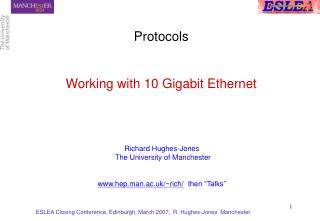 Protocols Working with 10 Gigabit Ethernet