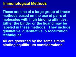 Immunological Methods