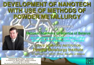 DEVELOPMENT OF NANOTECH WITH USE OF METHODS OF POWDER METALLURGY