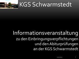 Informationsveranstaltung zu den Einbringungsverpflichtungen und den Abiturprüfungen
