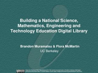 Building a National Science, Mathematics, Engineering and Technology Education Digital Library