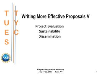 Writing More Effective Proposals V