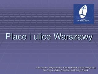 Place i ulice Warszawy