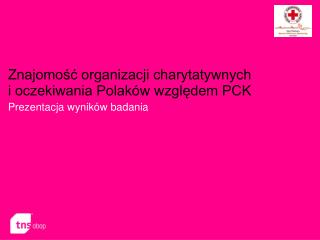 Znajomość organizacji charytatywnych  i oczekiwania Polaków względem PCK