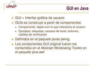 GUI en Java