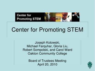 Center for Promoting STEM