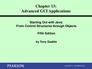 Chapter 13: Advanced GUI Applications