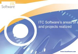 ITC Software's areas of activity and projects realized