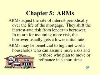 Chapter 5:  ARMs