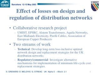 Effect of losses on design and regulation of distribution networks