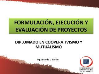 FORMULACIÓN, EJECUCIÓN Y EVALUACIÓN DE PROYECTOS