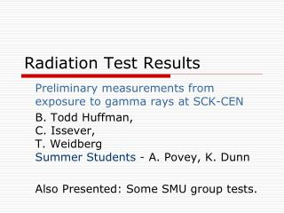 Radiation Test Results