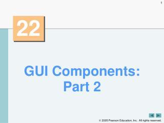 GUI Components: Part 2